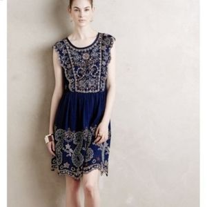 Anthropologie Putomayo Beaded Boho Shift Dress S